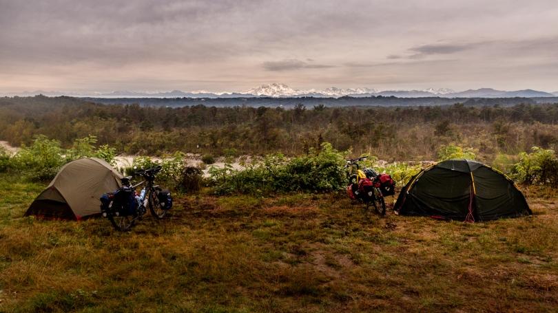 Camping at the Ticino River